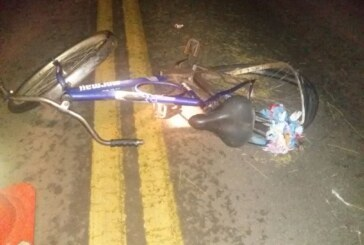 Ciclista morre atropelado na SC 355 e veículo causador foge do local