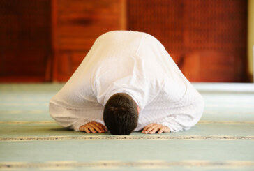 A Muslim man praying